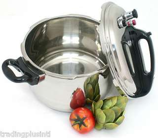 Stainless Steel Pressure Cooker Triple Safety Feature