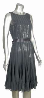 Freeman & Teri Jon Womens Gray Silver Sleeveless Cocktail Dress 4