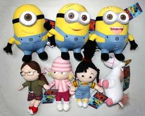 Despicable Me 3D Minion Dave..Girls Unicorn Plush Toy 7