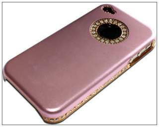Luxury Bling Diamond Case Cover For iPhone 4 4G Pink