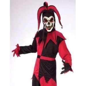Kids Court Jester Evil Clown Scary Halloween Costume S Boys Child