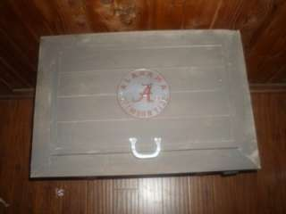 Alabama Crimson Tide Football Rustic 54qt Wood Cooler Roll Tide