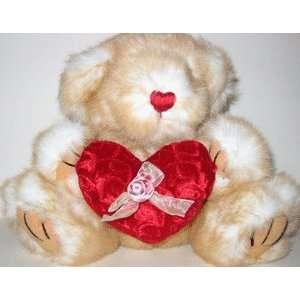 VALENTINE Plush Animal W/Heart   TEDDY BEAR Toys & Games