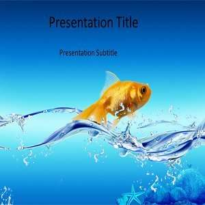 Water Fish Powerpoint Template   Water Fish Powerpoint
