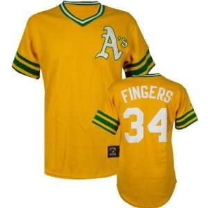 Rollie Fingers Majestic Cooperstown Throwback Oakland Athletics Jersey