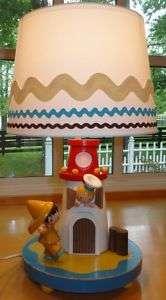Vtg~IRMI~Nursery~Kid~Baby~Boy~Wood~Lighthouse~Nautical~Wooden~Lamp