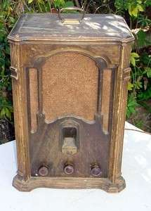 Antique Tube Radio   General Electric J 83, 1930s, big one, Tombstone
