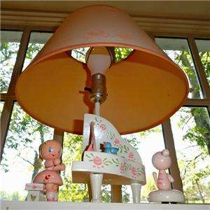 ~Nursery~Baby~Girl~Child~Musical~Music~Wooden~Wood~Piano~Lamp~Light