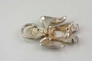 Costume Jewelry Silver & Gold Tone Angel Brooch Pin Earring Set
