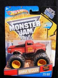 Hot Wheels Monster Jam GRAVE DIGGER Mud Trucks Old School I combine