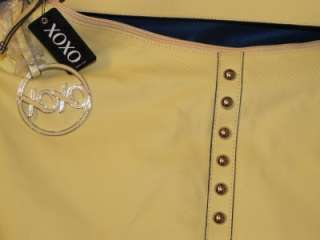 Extra Large LEATHER Like STUDDED Handbag HOBO Purse by XOXO Pale