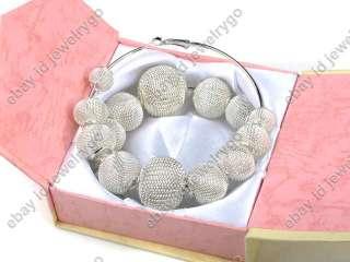 Basketball Wives POParazzi Mesh Ball Beads Bling Hoops Rhinestone Hoop