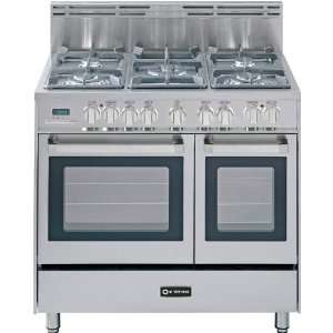 36 Double Oven Dual Fuel Range 5 Sealed Gas Burners 2.4