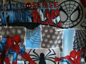 Spiderman Marvel superhero comic book fleece fabric