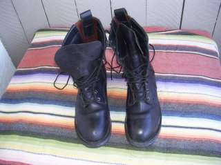 Mens Red Wing 980 Black Motorcycle Boots 9 1/2 EE (b664)