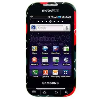 For Metro PCS Samsung Galaxy Indulge Black Plaid Case