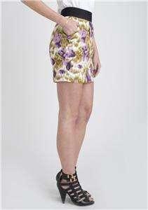 Jack BB Dakota Kallie Floral Mini Pencil Skirt Purple