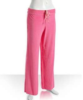 Betsey Johnson pink terry cotton bow detail pajama pants   up