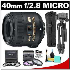 Nikon 40mm f/2.8 G DX AF S Micro Nikkor Lens with 7 UV/FLD/CPL & Close