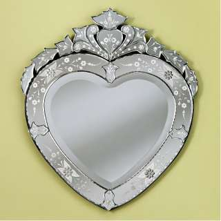 Venetian Gems Corazon Wall Mirror in Clear Decor