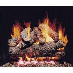 Oak Vented Propane Gas Log Set W/ G4 Burner And Variable Flame Remote