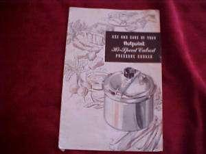 Hotpoint Hi Speed Calrod Pressure Cooker Manual Recipes