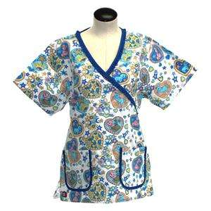 Scrubs Medical Nurse Dental Beautician White with Blue trim Style 3136