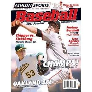 Athlon Sports 2011 MLB Baseball Preview Magazine  San Francisco Giants
