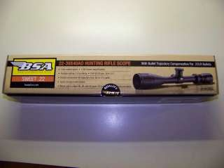 BSA Sweet 22 Scope   3x9 40mm   New in Box   Great for Ruger 10/22