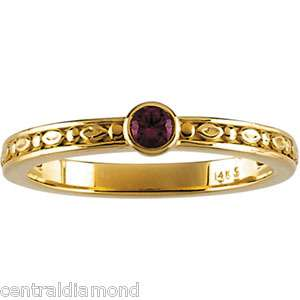 Family Mom Moms MOTHERS Stackable 14K Gold Ring Jewelry