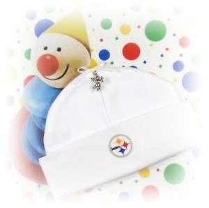PITTSBURGH STEELERS ~ Newborn Baby Hat & FOOTBALL CHARM