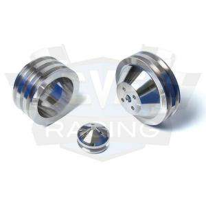 Billet Aluminum V Belt Pulley Kit 302 351W 351C Air A/C