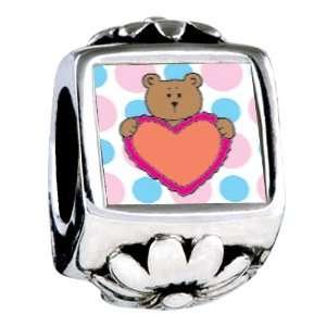 Soufeel Valentine Teddy Bear Italian Charm Jewelry