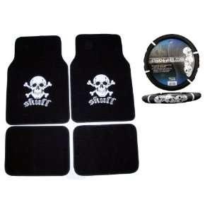 Car Truck SUV Floor Mats & Steering Wheel Cover