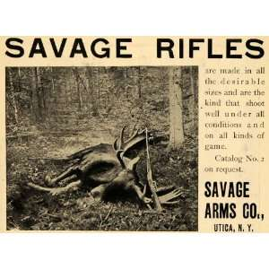 1903 Ad Savage Arms Co. Rifles Firearms Hunting Moose