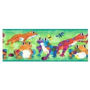 Sanitas Leaping Frogs Wallpaper Border CK062121B: Baby